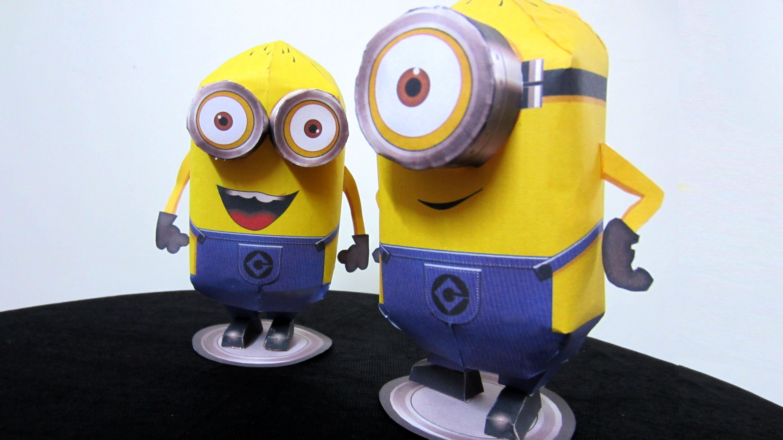 How To Make 'Minions' - DIY Simple Paper Craft (Pepakura) #Despicable Me