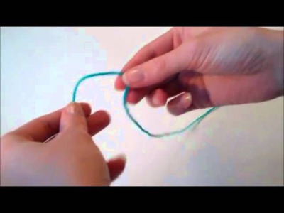 How to Tie a Slip Knot for Long Tail Cast on: Learn to Knit