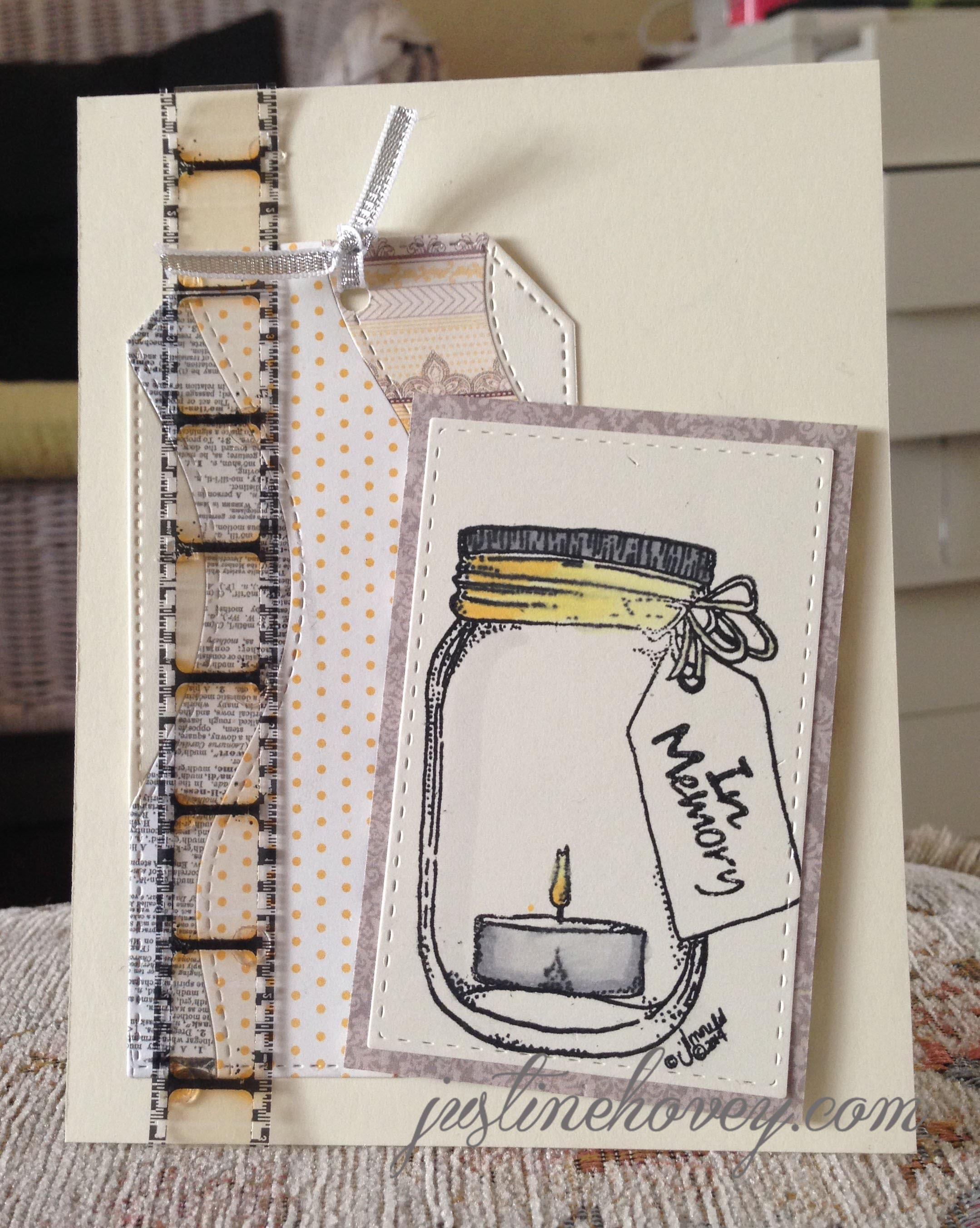 In Memory Sympathy Card DIY Tutorial: Die Cutting