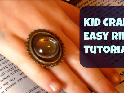 Jewelry Crafts: Easy Ring Tutorial by Lewis, Age 8