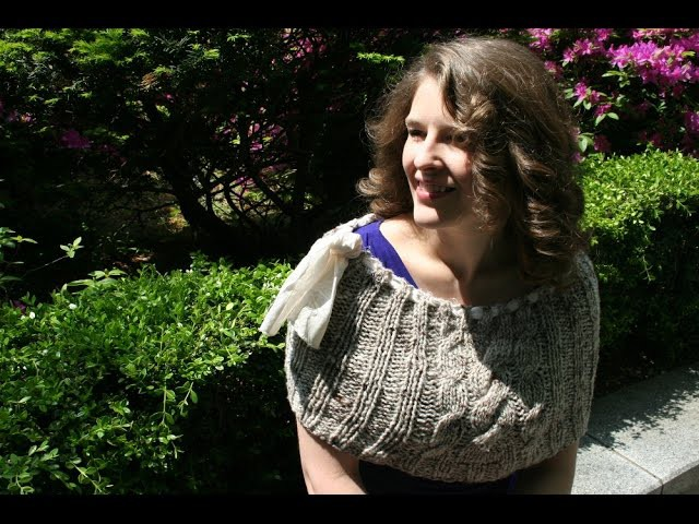 Knitting the Free Yuna Shrug: Making Cables, Part 1 - Tutorial - Expertly Dyed