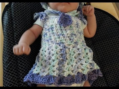 Lavender Grace Beautiful Crochet Spring Baby Dress DIY tutorial