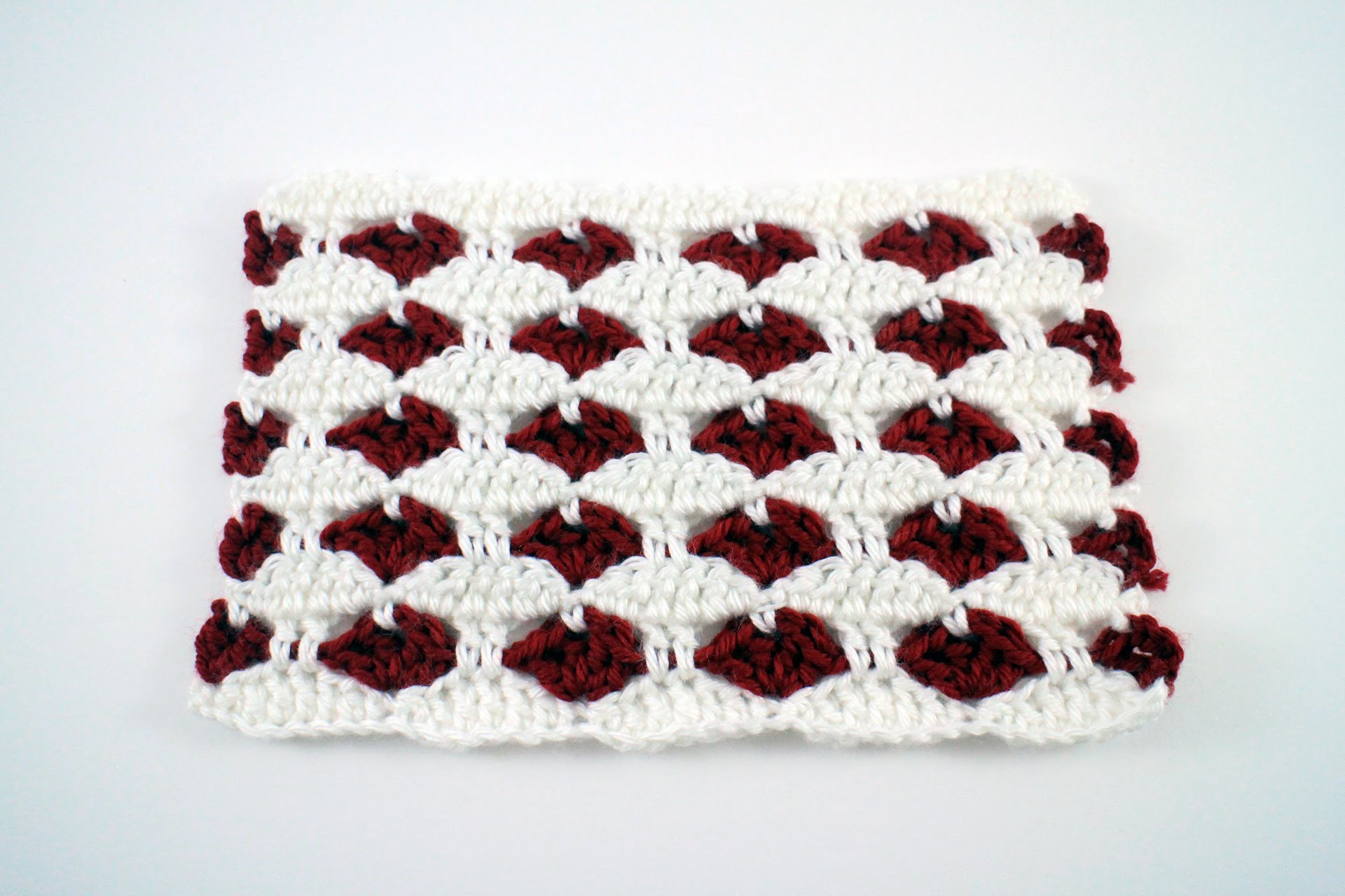 Left Hand: How to Crochet the Heart Stitch