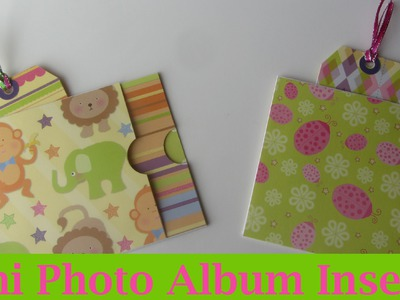 Long Envelope Mini Baby Scrapbook Album Insert Craft Tutorial