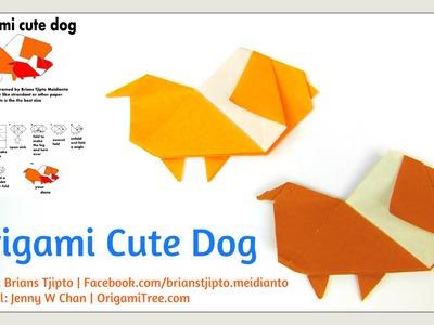 Origami Dog - Origami Cute Dog (Brians Tjipto) - Origami Paper Crafts for Kids Tutorial