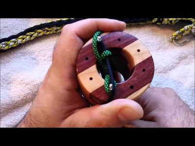 PARACORD KNITTING SPOOL TUTORIAL TWO PIN TWO COLOURS