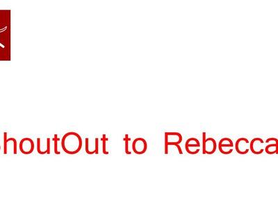 #ShoutOut to Rebecca - Crochet Geek Video
