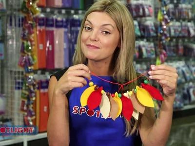 Spotlight DIY Video: Kids Craft - Autumn Leaf Necklace