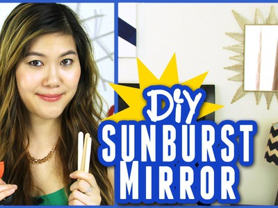 Spring Room Decor: Dollar Store Crafts- DIY Sunburst Mirror | DecorateYou
