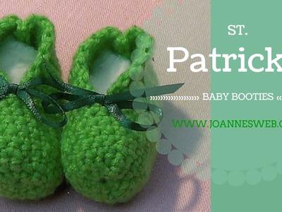 St. Patrick's Crochet Baby Booties