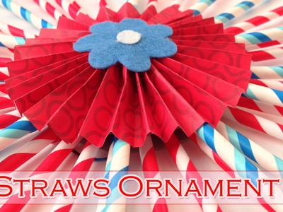 Straws ornament - Party decorations - Ana | DIY Crafts