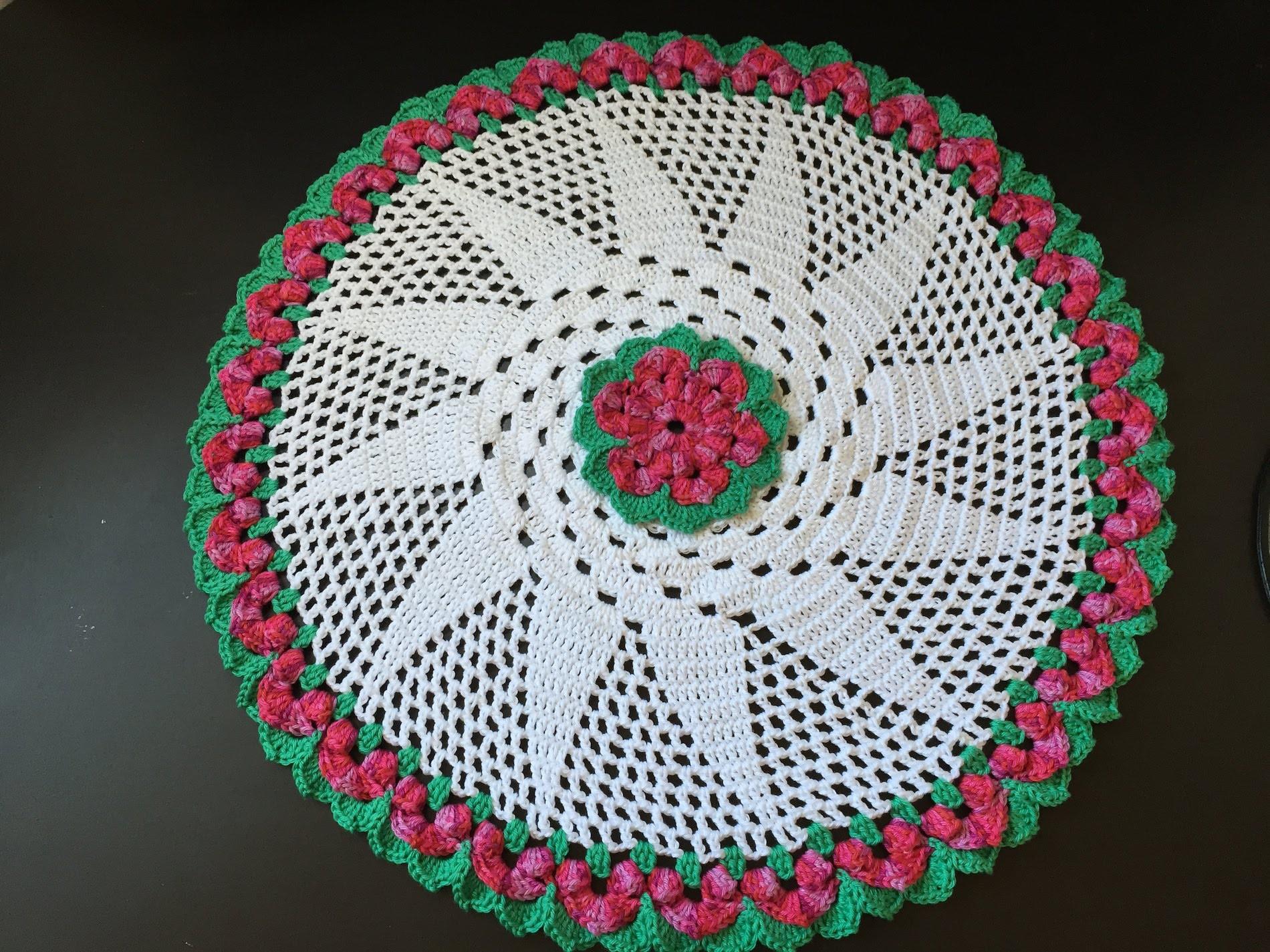 Tuto Nape, tapis fleur au crochet