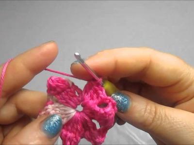 Uncinetto Crochet Fiore Girandola Piccola curta tutorial