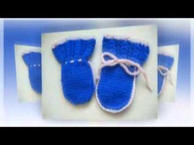 Варежки спицами для малышей - How to knit socks