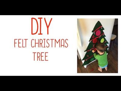 VLOGMAS DAY 2 | DIY Felt Christmas Tree (toddler craft)