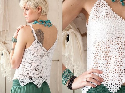 #11 Lace Tank, Vogue Knitting Crochet 2012