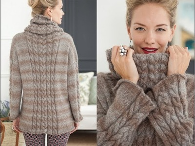 #18 Cable Pullover, Vogue Knitting Holiday 2013
