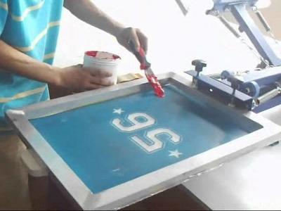4 color 1. 2 station silk screen printing t-shirt printing DIY t-shirt transferring screen press