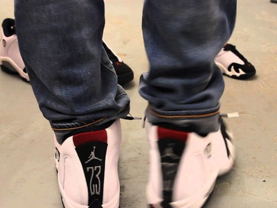 "Air Jordan 14 Retro ""Black Toe"" On-feet Video at Exclucity"