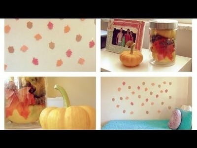 Autumn DIY: Two Easy & Cute Room Decor Ideas!