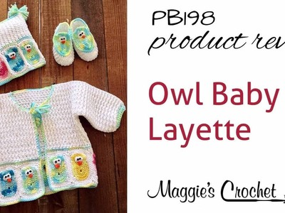 Baby Owl Layette Crochet Pattern Product Review PB198