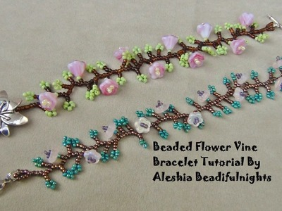 Beaded Flower Vine Bracelet Tutorial