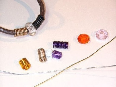 Beading Ideas - Spring beads using aluminium wire