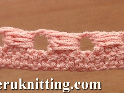 Bullion Block Stitch How to Crochet Tutorial 40 Part 7 of 7 No Side Loop