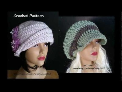 Cloche Hat and Loose Hat CROCHET PATTERN