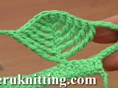 Complex Crochet Stitch Leaf Shape Tutorial 23 Part 1 of 2 Tall Stitches