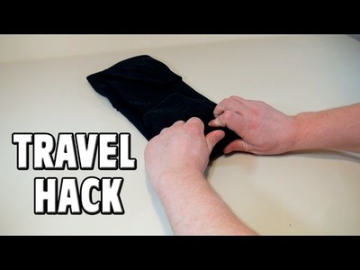 Cool Travel Hack - How to Roll a Sweater for Packing