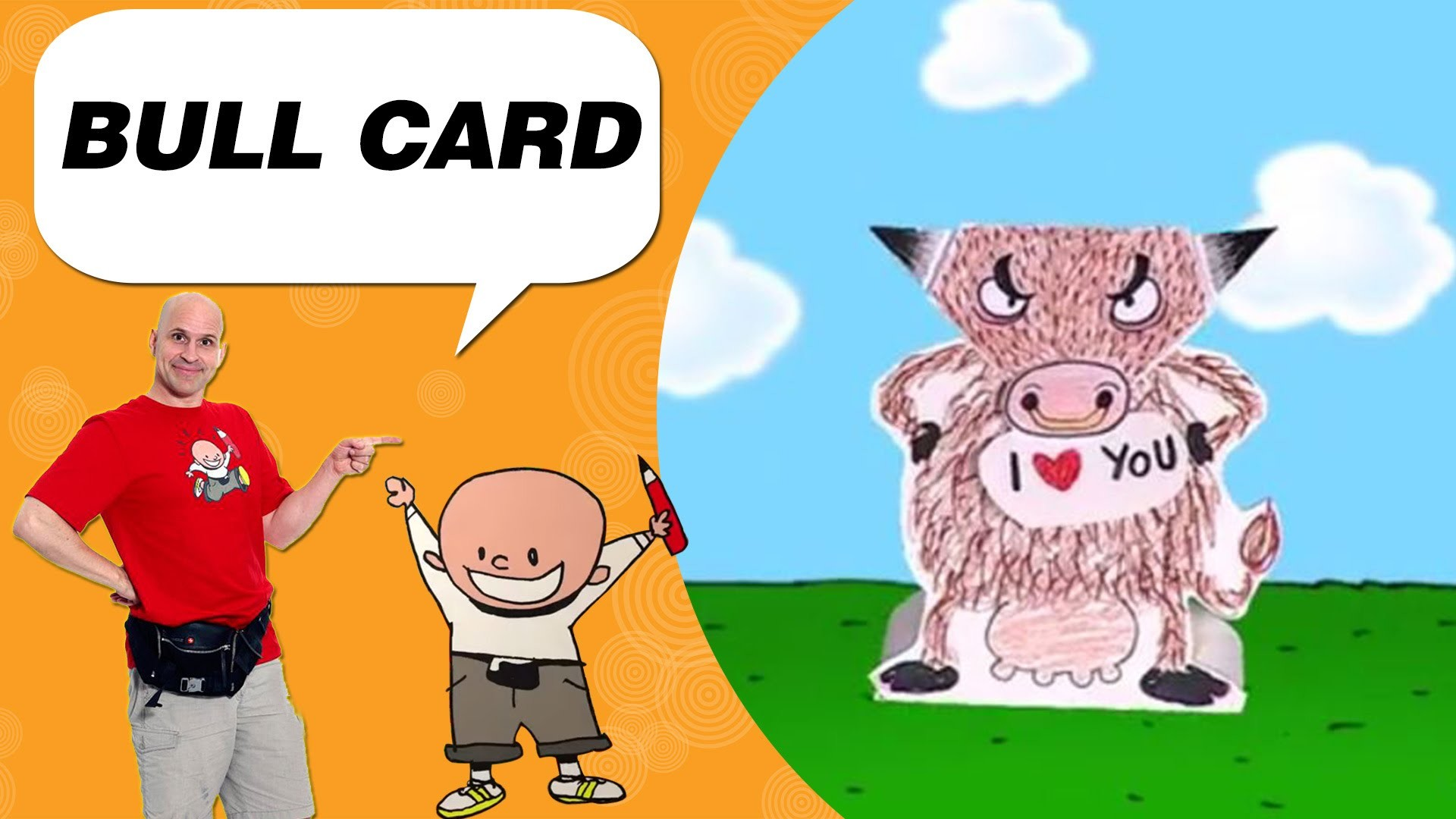 Crafts Ideas for Kids - Bull Card | DIY on BoxYourSelf