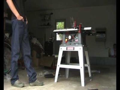 Craftsman Table Saw Setup