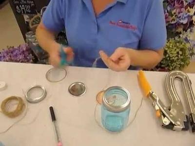 Crankin' Out Crafts -ep270 Heritage Mason Jar Centerpiece Table Marker