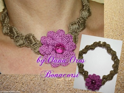 Crochet Dahlia necklace