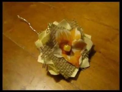 DIY Burlap Flowers - Tutorial From BurlapFabric.com