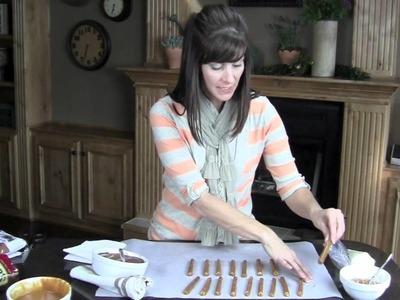 DIY: Caramel Chocolate Dipped Pretzels | ShowMeCute