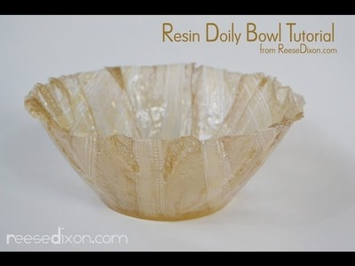 DIY Christmas Gift for Mom - Make a Lace Bowl out of resin!