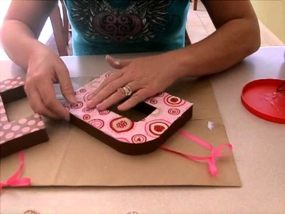 DIY Decorating Paper Mache Letters