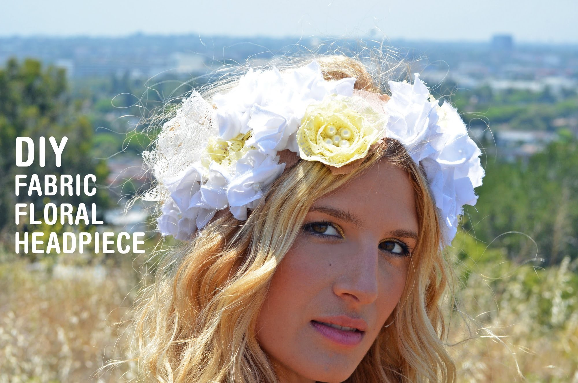 DIY Fabric Floral Headpiece Tutorial by Mr. Kate
