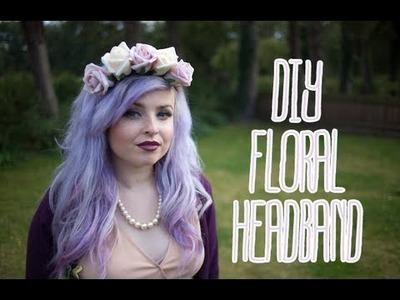 DIY Floral headband