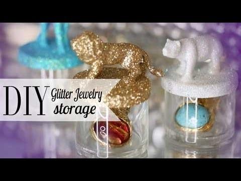 DIY Glitter Animal Jewelry Storage | Chic Room Decor ANNEORSHINE