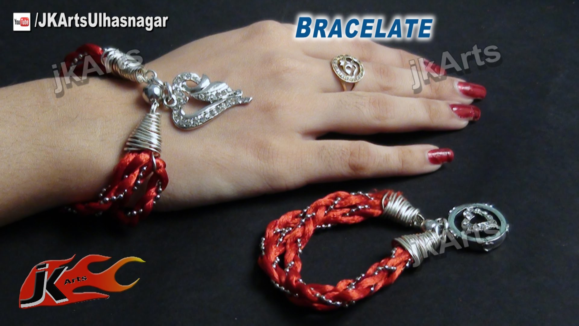 DIY How to make Bracelet (Jewelry Making for valentine's Day Gift Idea ) - JK Arts 489