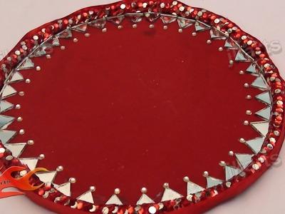 DIY How to Make Decorative Round Wedding Tray - JK Arts 108