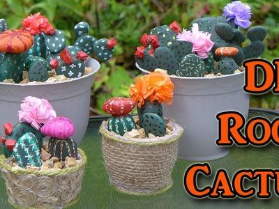 DIY Painted Rocks - Cactus Decorations