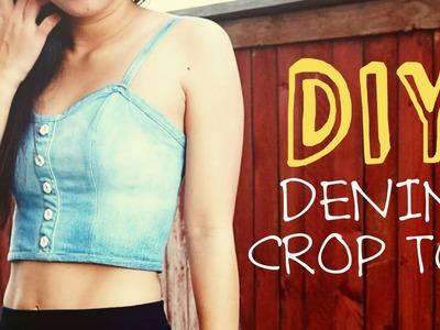 DIY Upcycled Denim Crop Top