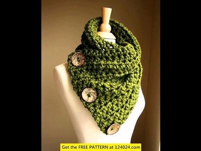 Double crochet infinity scarf free pattern