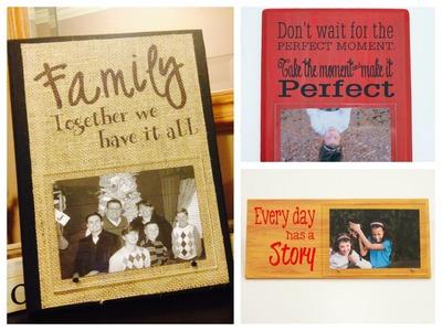 Fast Easy DIY Photo Frame Featuring Acrylic and Burlap