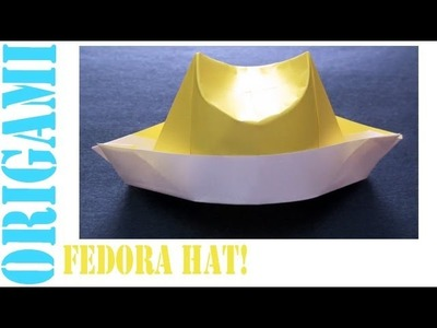 Fedora Hat: Daily Origami - 469 [TCGames HD]