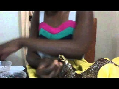 How to bead with sand beads n sequins
